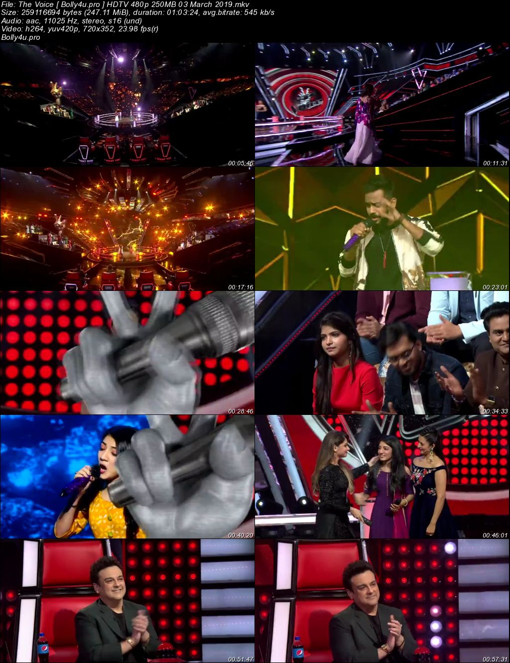 The Voice HDTV 480p 250MB 03 March 2019 Download