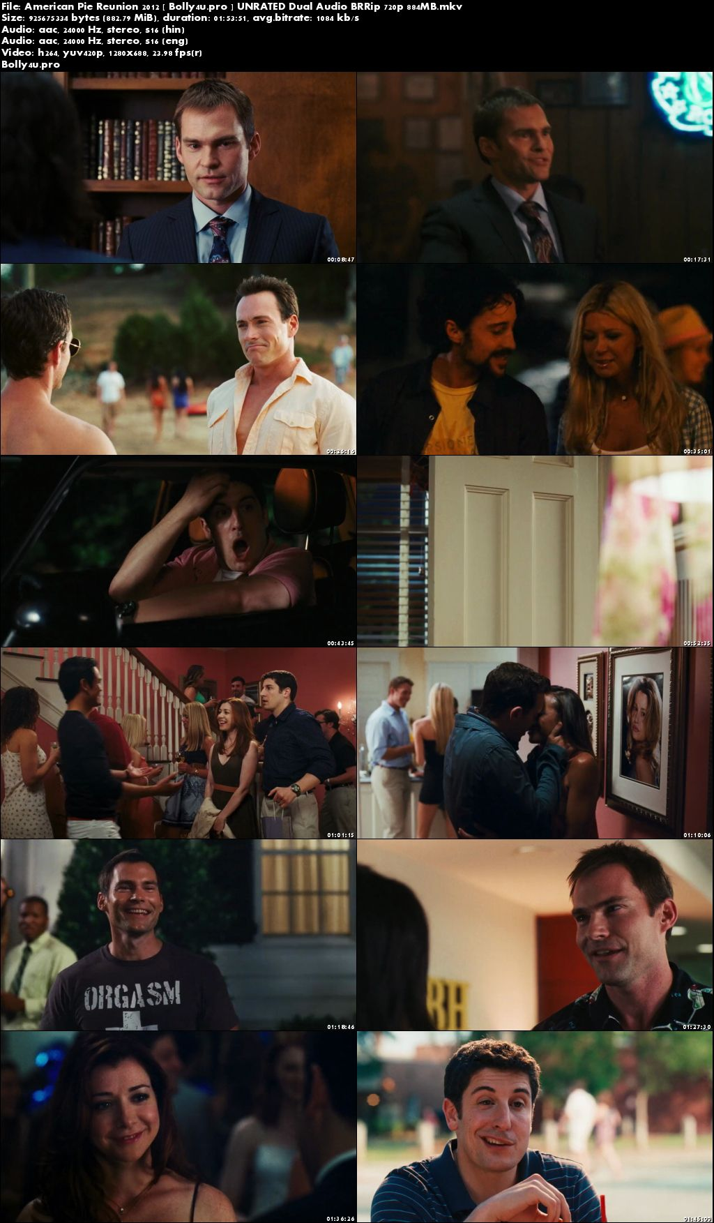 American Pie Reunion 2012 BluRay 850MB UNRATED Hindi Dual Audio 720p Download