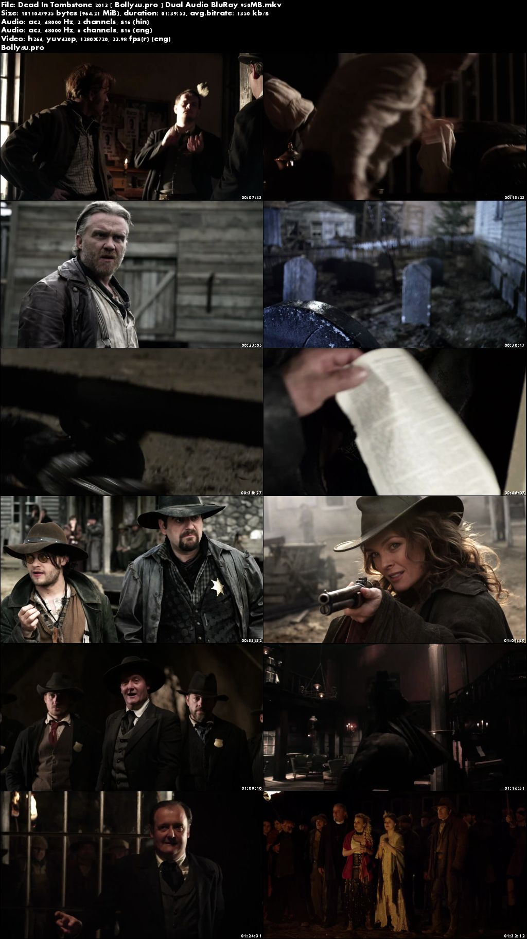 Dead In Tombstone 2013 BluRay 300Mb Hindi Dual Audio 480p Download