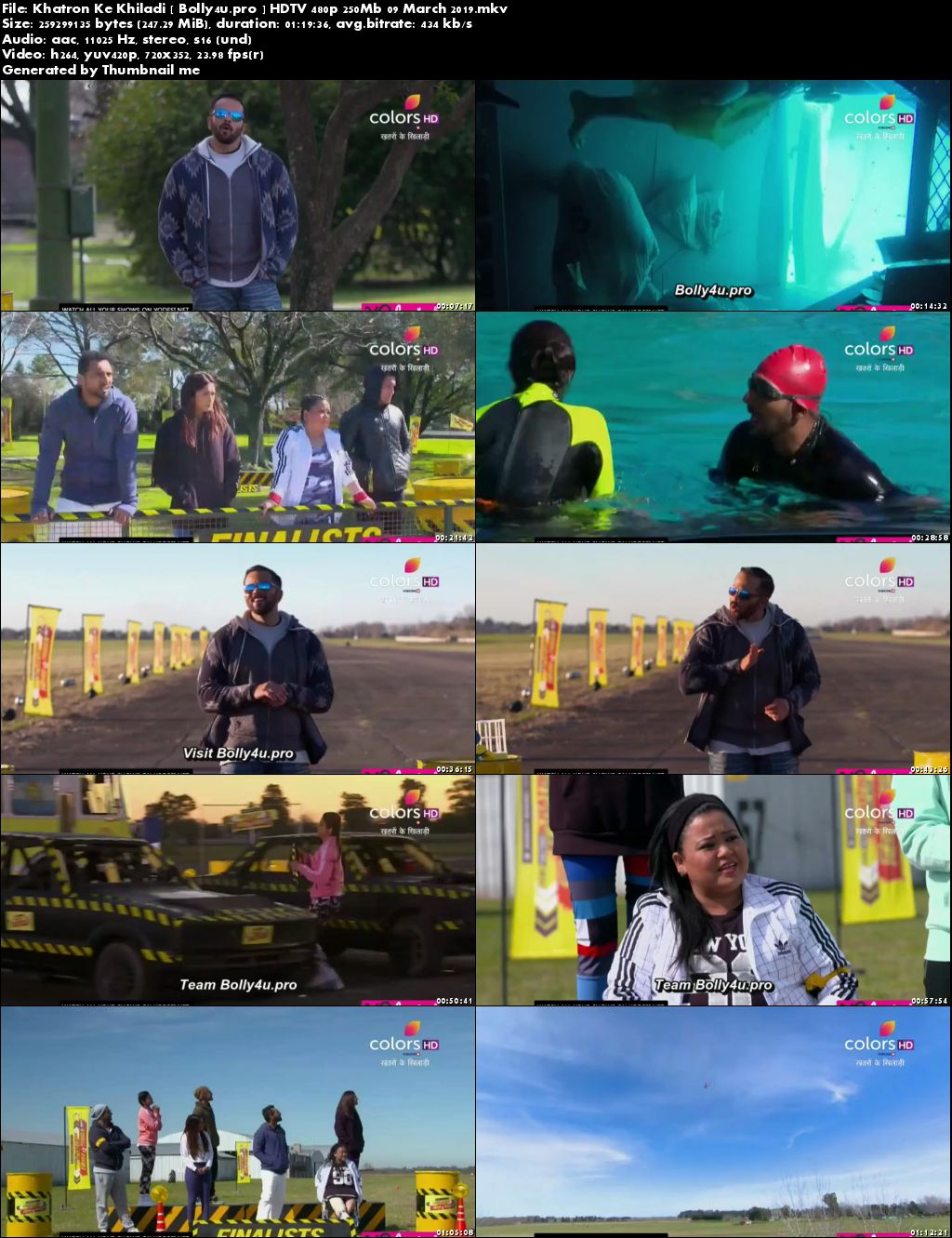 Khatron Ke Khiladi HDTV 480p 250Mb 09 March 2019 Download