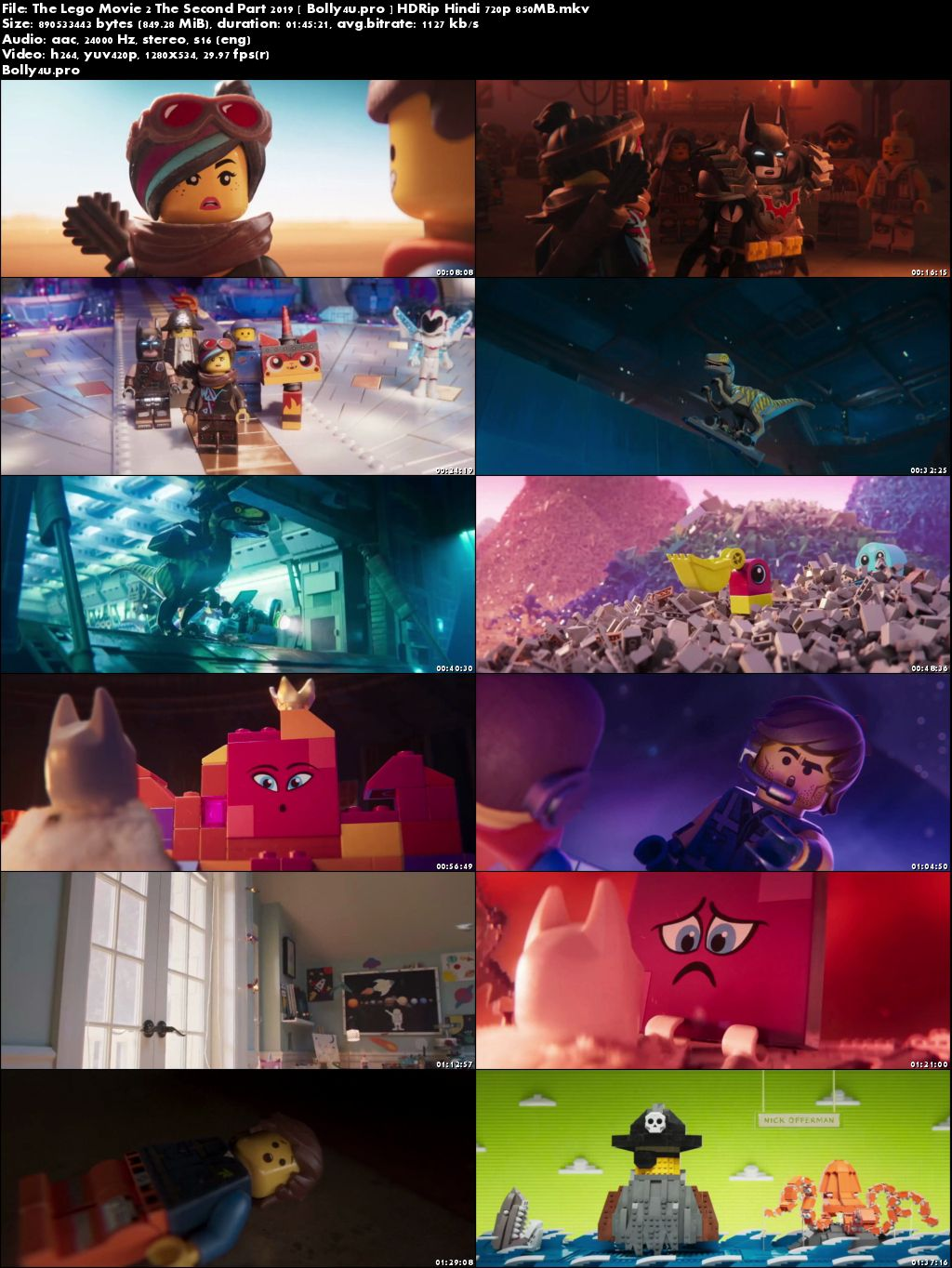 The Lego Movie 2 The Second Part 2019 HDRip 300MB English 480p Download