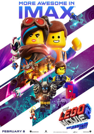 The Lego Movie 2 The Second Part 2019 HDRip 850MB Hindi 720p Watch Online Free Download bolly4u