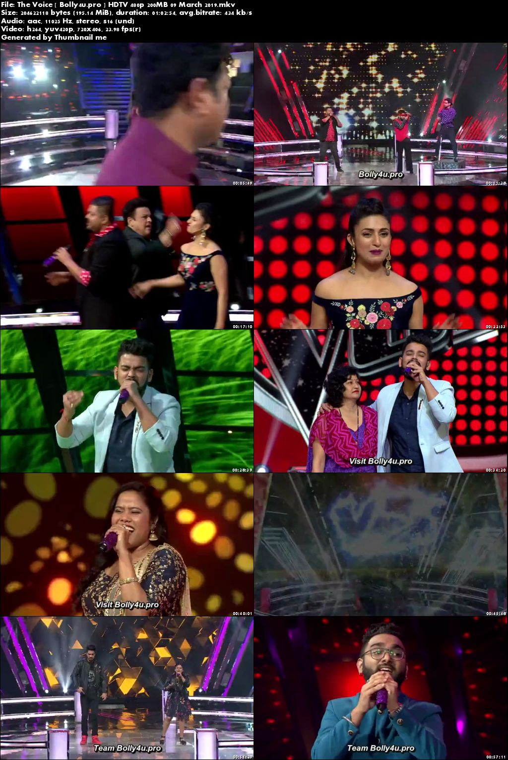 The Voice HDTV 480p 200MB 09 March 2019 Download