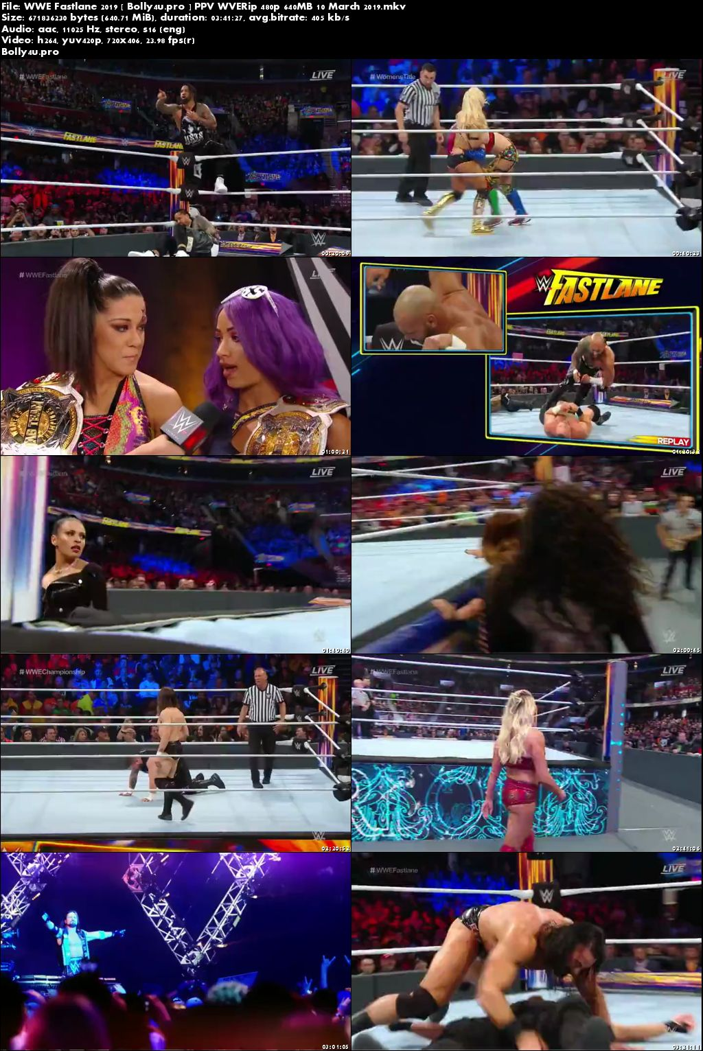 WWE Fastlane 2019 PPV WVERip 650MB 10 March 2019 480p x264 Download