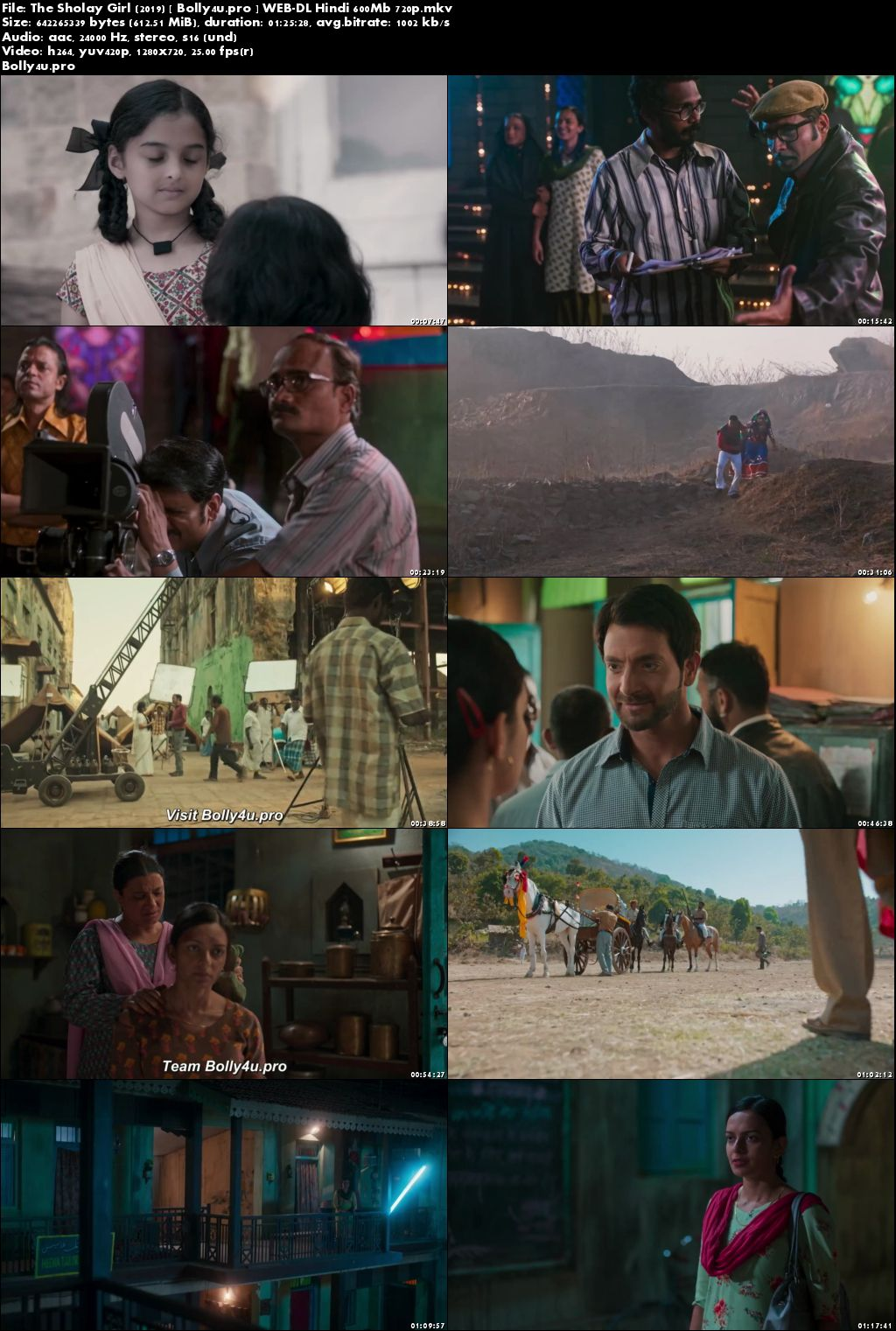 The Sholay Girl 2019 WEB-DL 600Mb Hindi 720p x264 Download