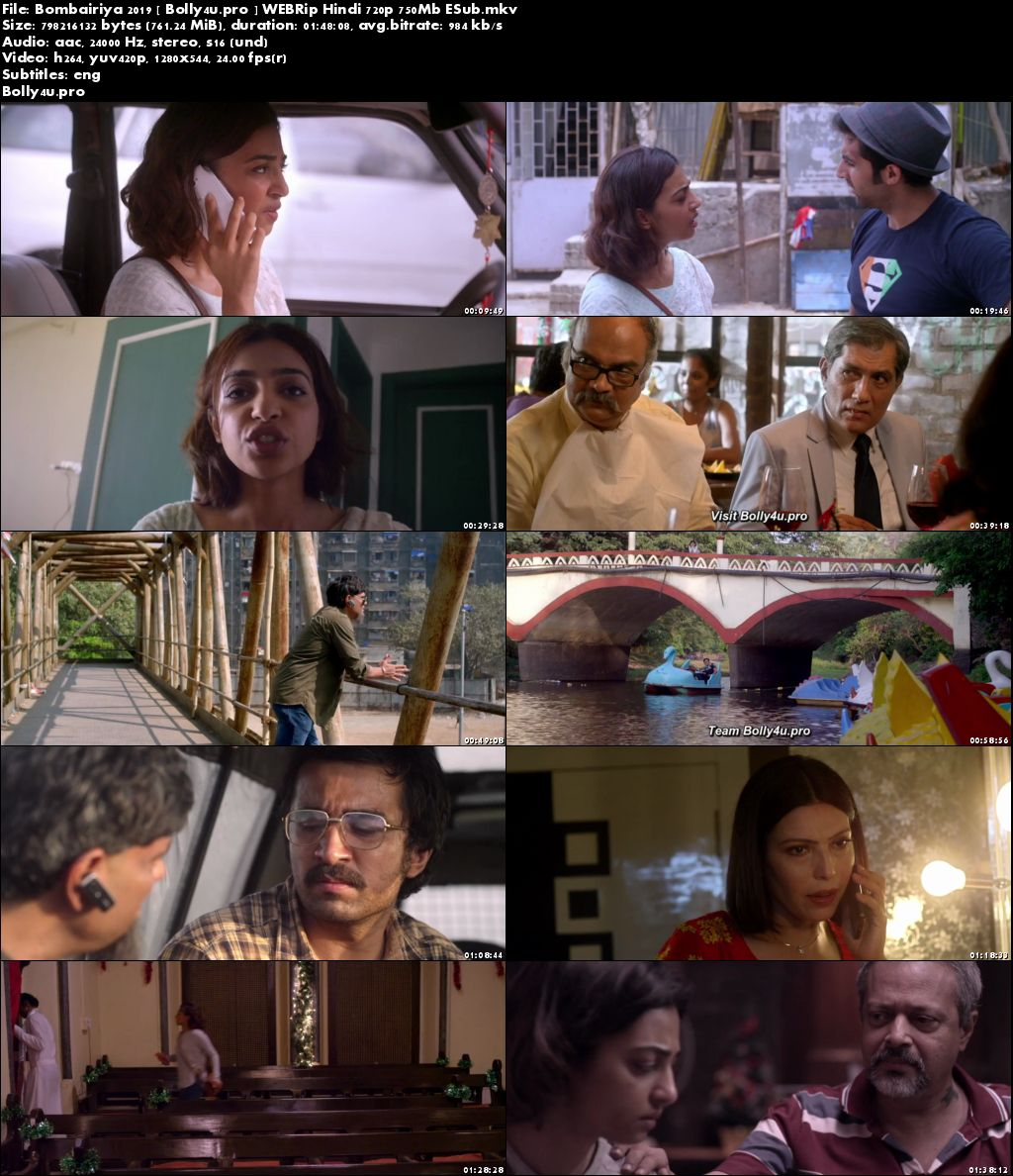 Bombairiya 2019 WEBRip 750MB Full Hindi Movie Download 720p ESub