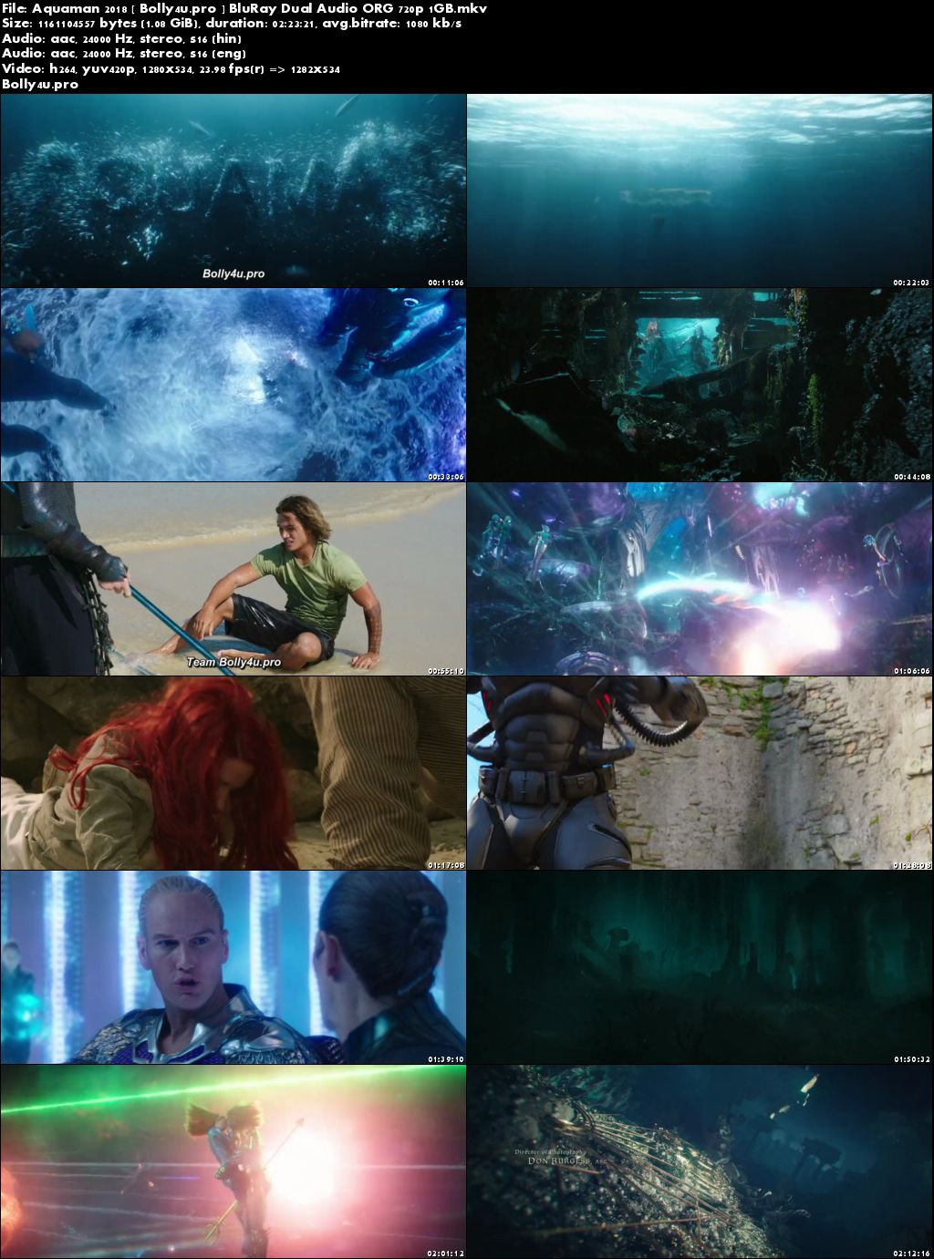 Aquaman 2018 BluRay 450MB Hindi Dual Audio ORG 480p Download