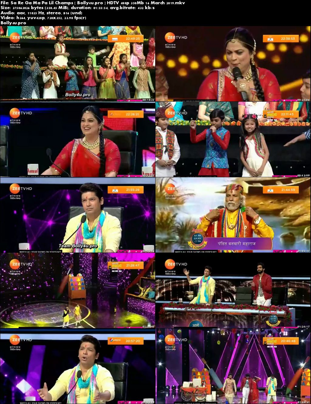 Sa Re Ga Ma Pa Lil Champs HDTV 480p 350Mb 16 March 2019 Download