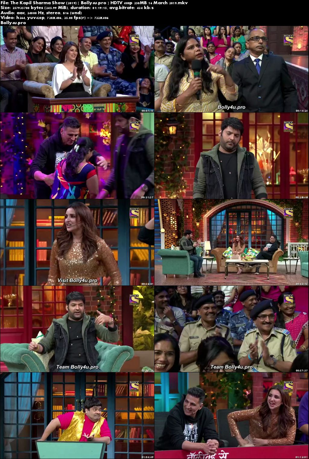 The Kapil Sharma Show HDTV 480p 250MB 16 March 2019 Download