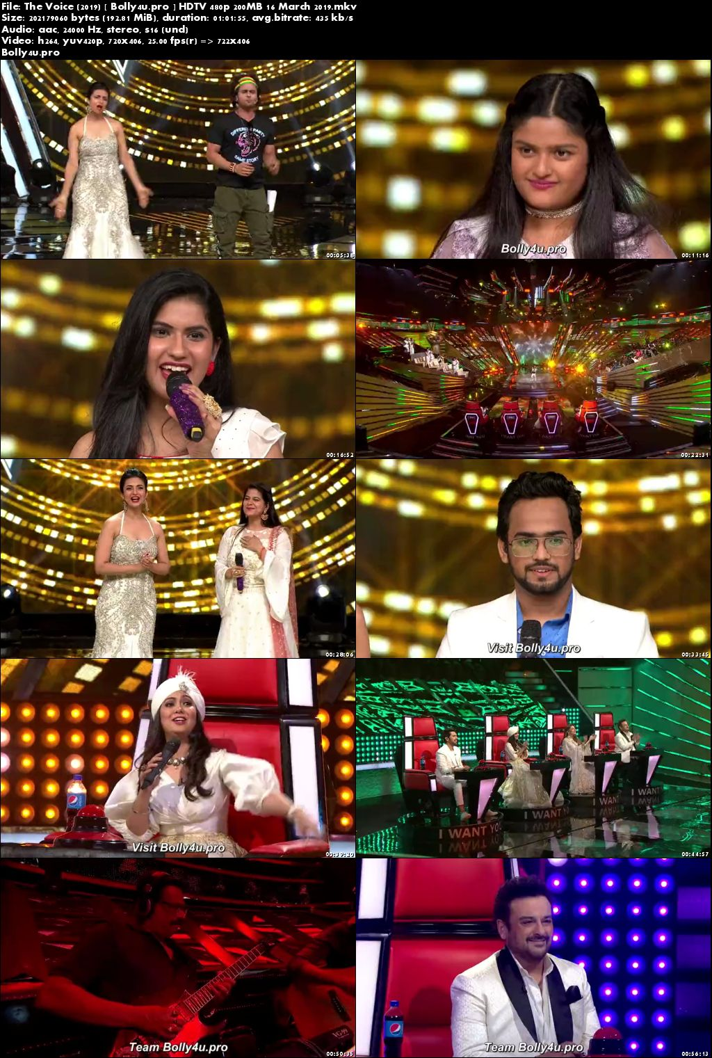 The Voice HDTV 480p 200MB 16 March 2019 Download