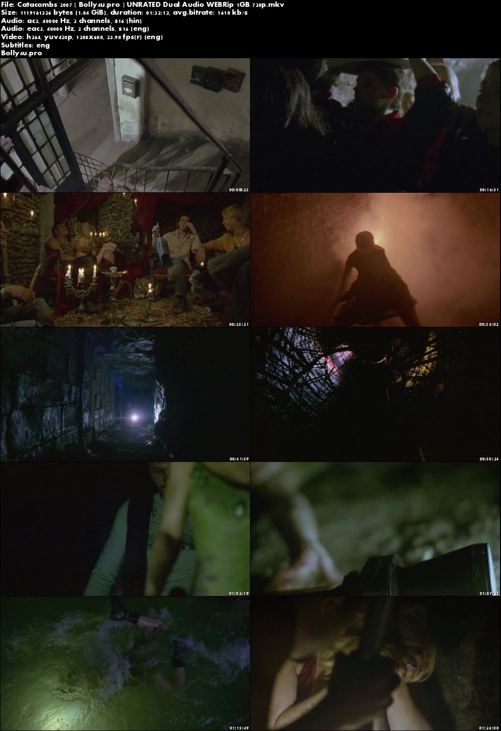 Catacombs 2007 WEBRip 450MB UNRATED Hindi Dual Audio 480p ESub Download