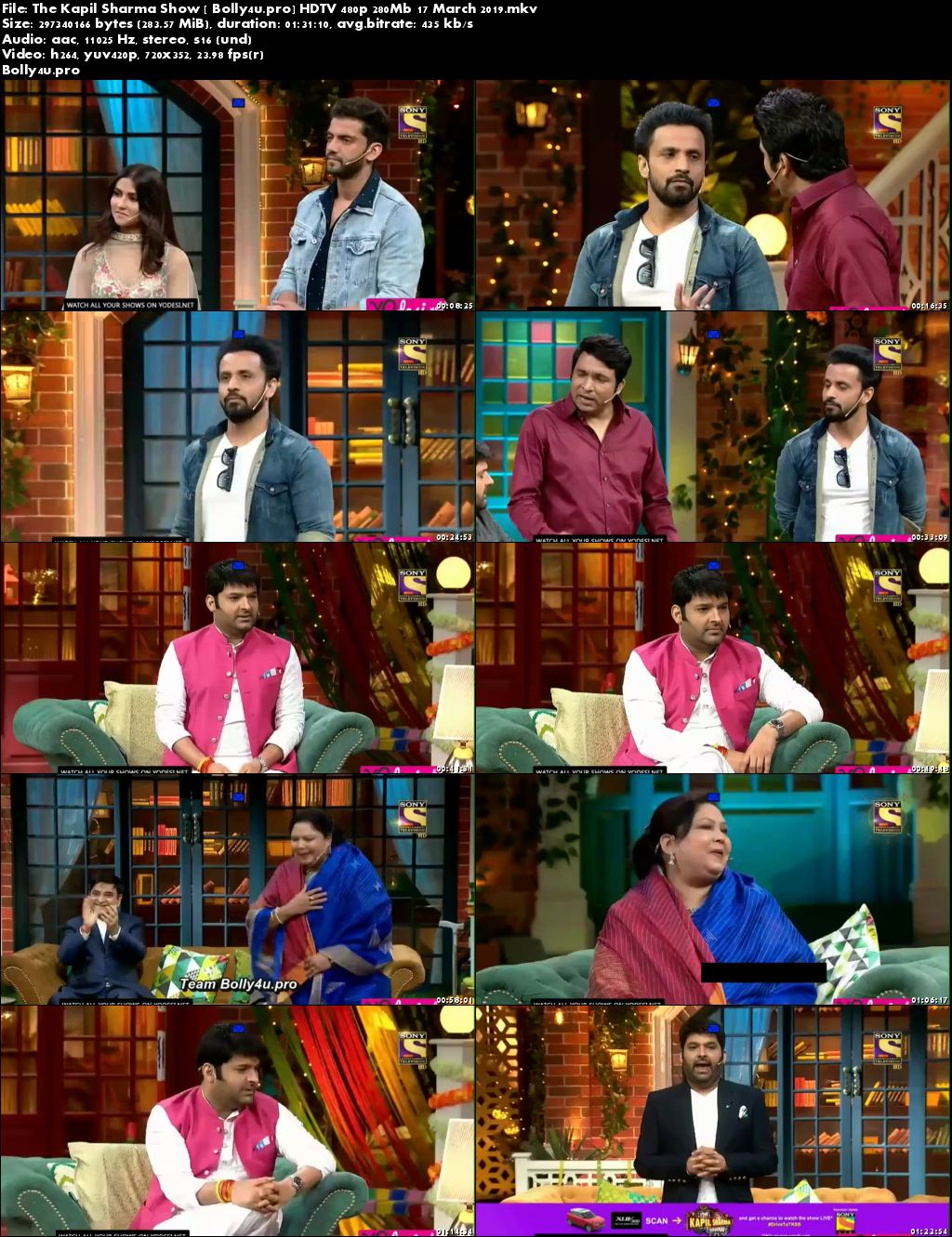 The Kapil Sharma Show HDTV 480p 280Mb 17 March 2019 Download
