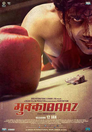 Mukkabaaz 2018 DVDRip 450MB Full Hindi Movie Download 480p Watch Online Free Bolly4u