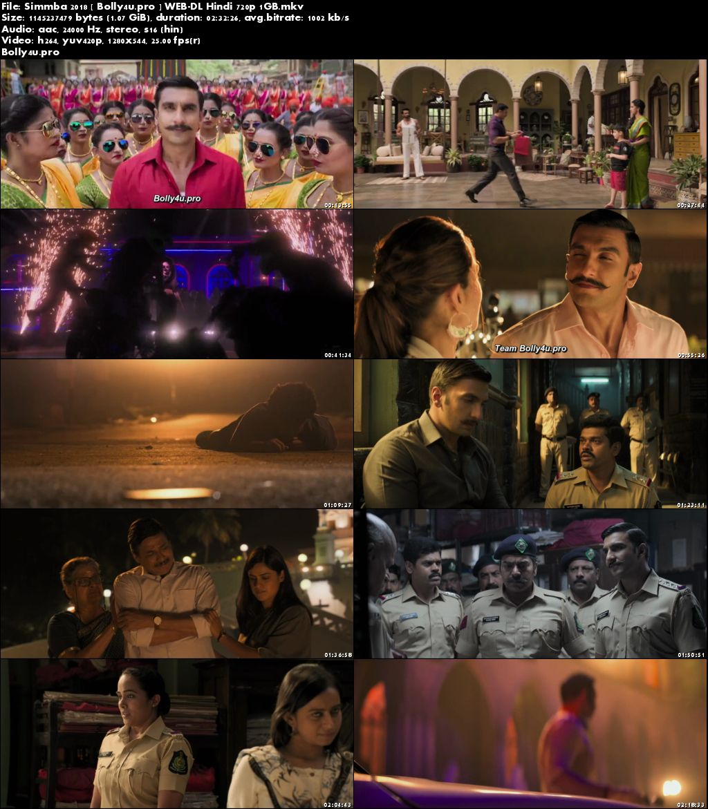 Simmba 2018 WEB-DL 1Gb Full Hindi Movie Download 720p