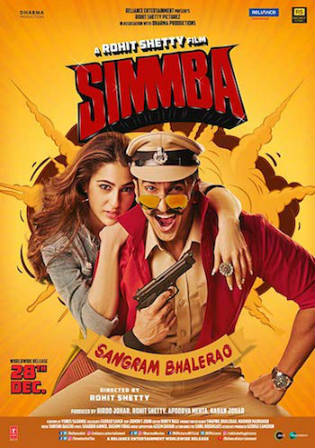 Simmba 2018 WEB-DL 450Mb Full Hindi Movie Download 480p