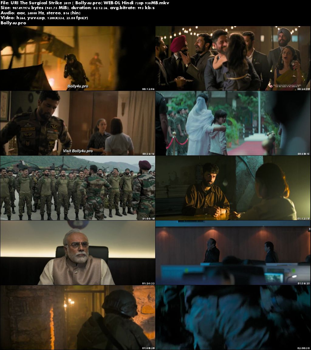 URI The Surgical Strike 2019 WEB-DL 950Mb Full Hindi Movie Download 720p