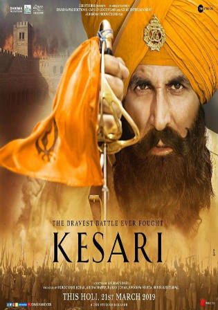 Kesari 2019 Pre DVDRip 350MB Full Hindi Movie Download 480p