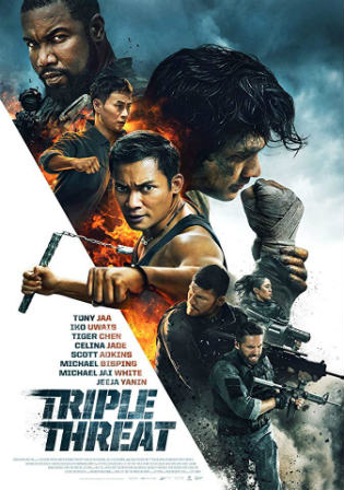 Triple Threat 2019 WEB-DL 300MB English 480p Watch Online Full Movie Download bolly4u