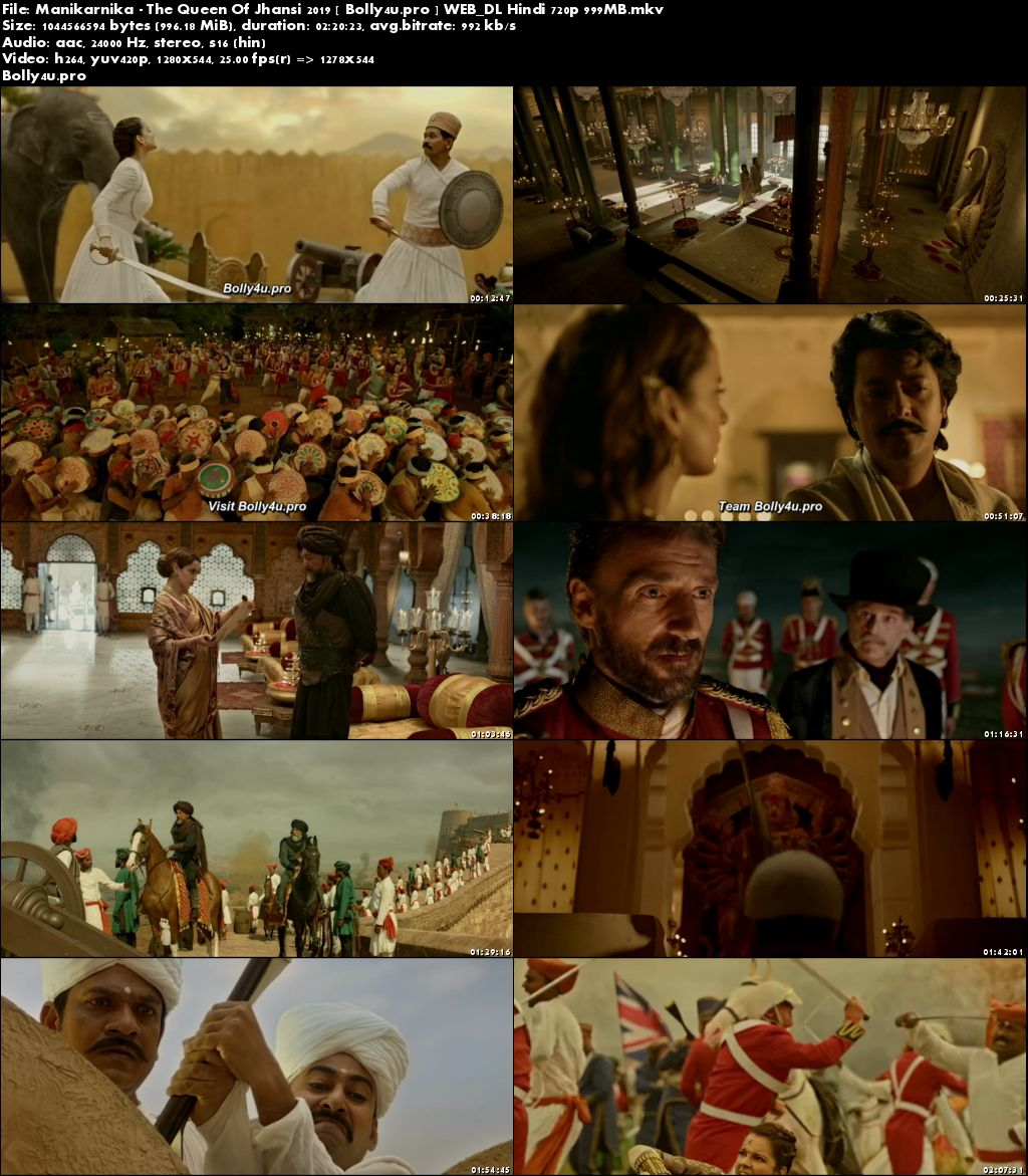 Manikarnika The Queen Of Jhansi 2019 WEB-DL 999MB Hindi 720p Download