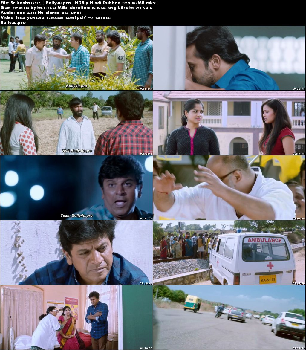 Srikanta 2017 HDRip 350Mb Hindi Dubbed 480p Download