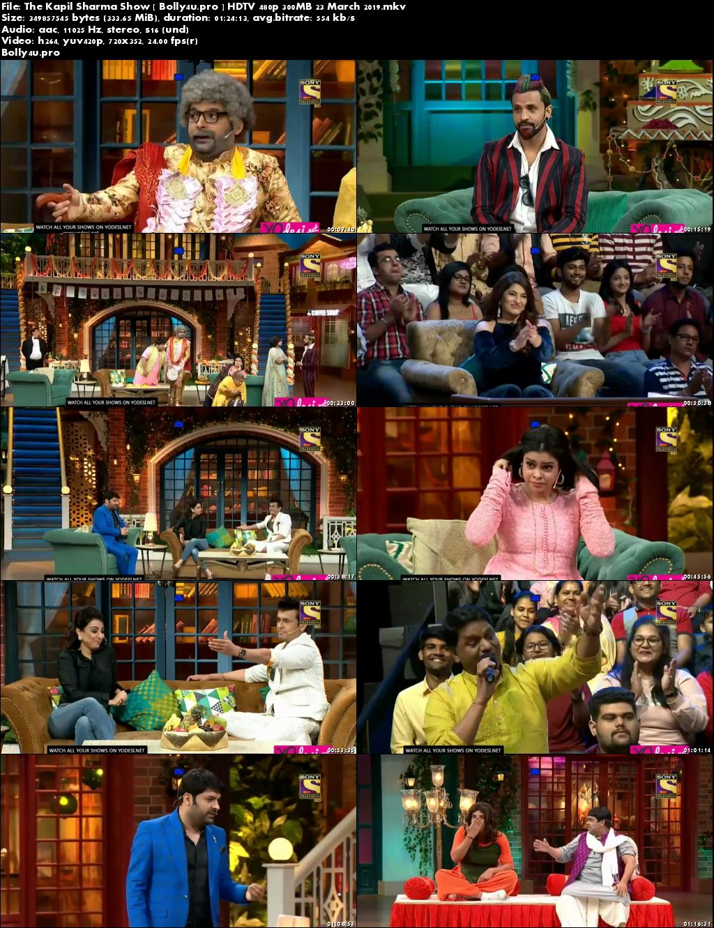 The Kapil Sharma Show HDTV 480p 300MB 23 March 2019 Download