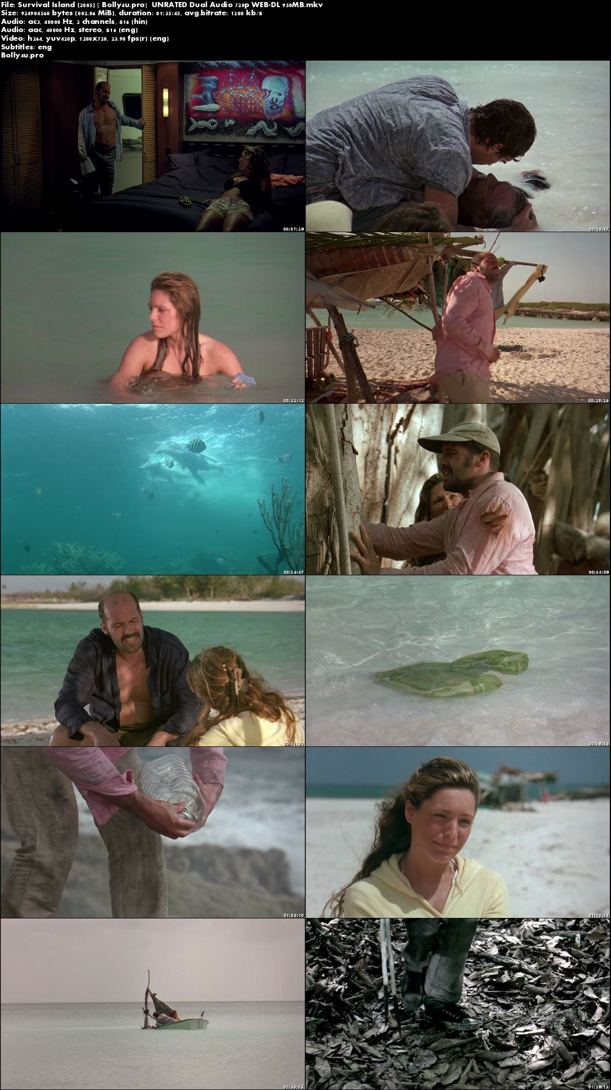 Survival Island 2005 WEB-DL 850MB UNRATED Hindi Dual Audio 720p Download