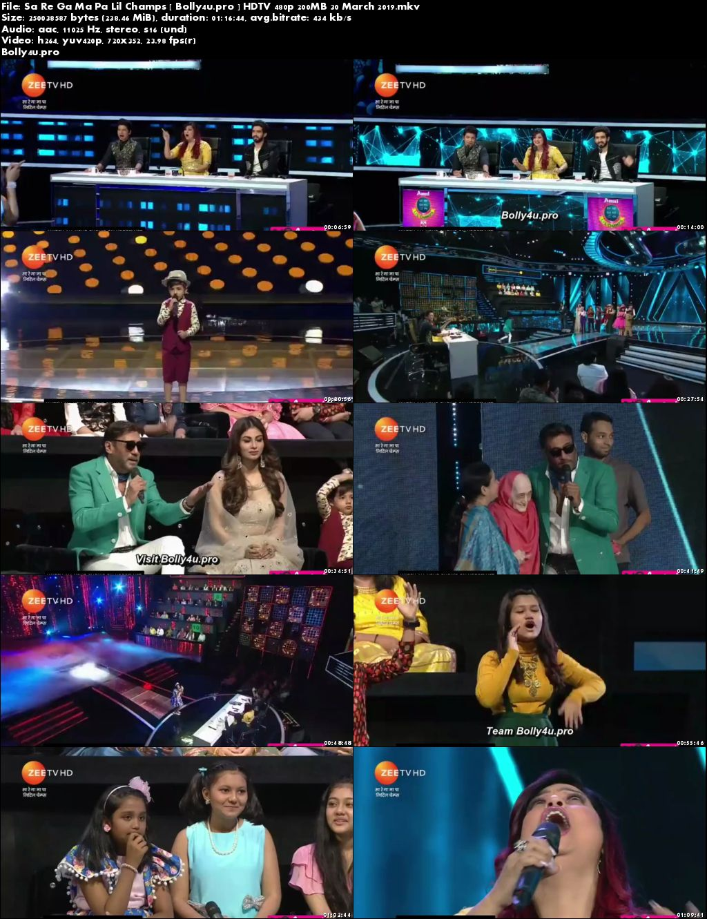 Sa Re Ga Ma Pa Lil Champs HDTV 480p 200MB 30 March 2019 Download