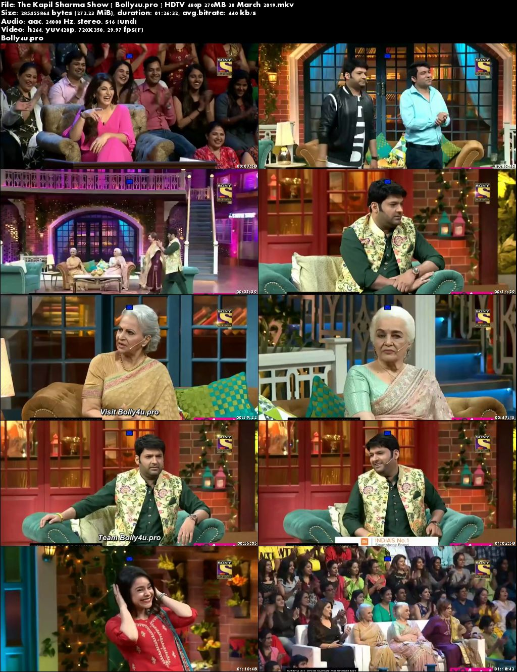 The Kapil Sharma Show HDTV 480p 250MB 30 March 2019 Download