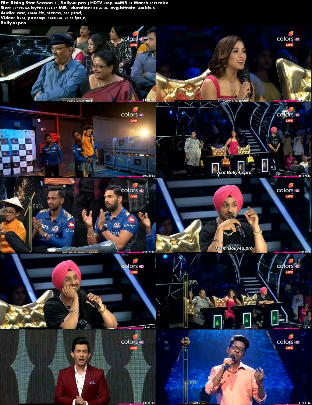 Rising Star Season 3 HDTV 480p 300MB 31 March 2019 Download