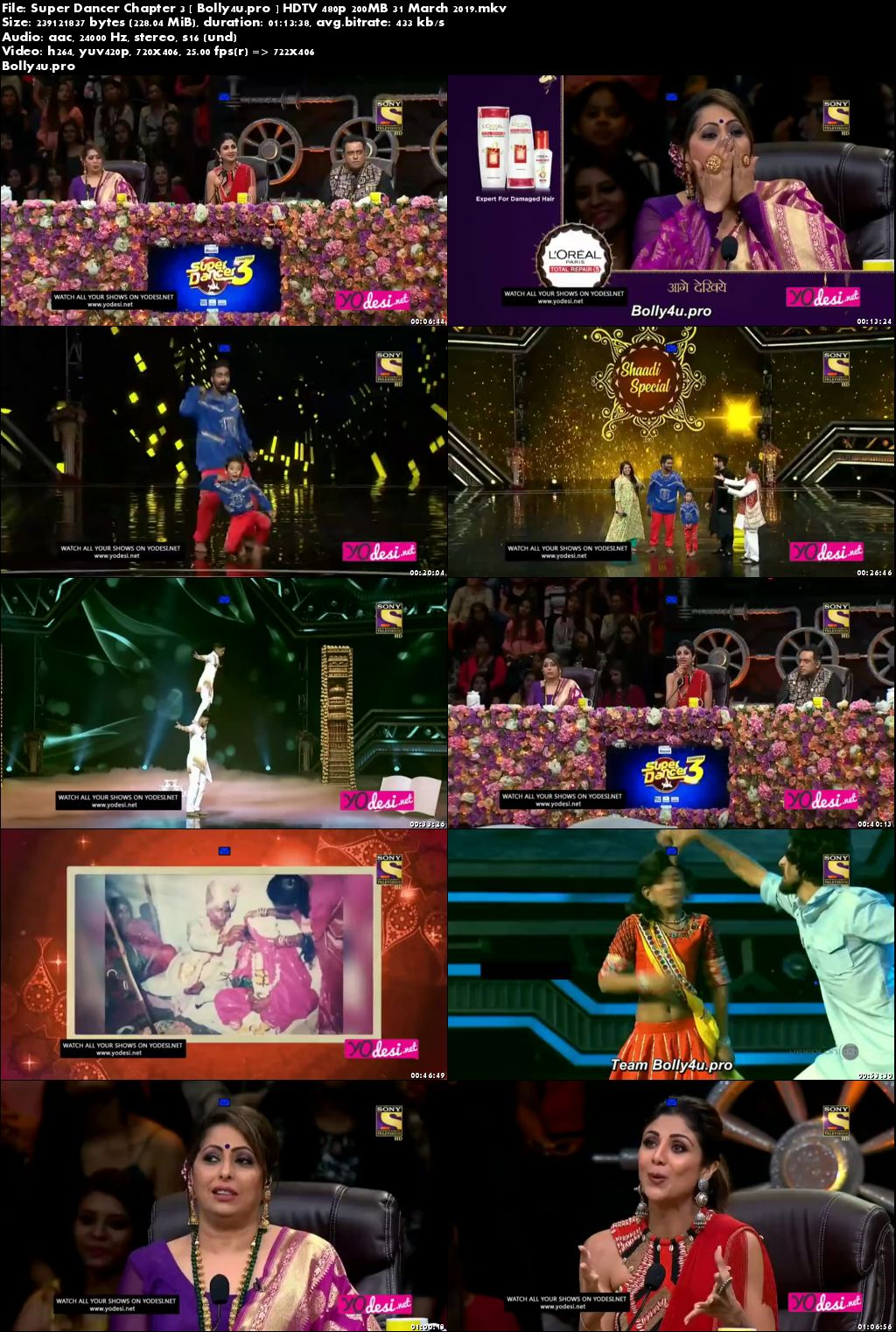 Super Dancer Chapter 3 HDTV 480p 200MB 31 March 2019 Download