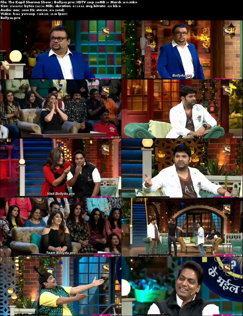 The Kapil Sharma Show HDTV 480p 250MB 31 March 2019 Download