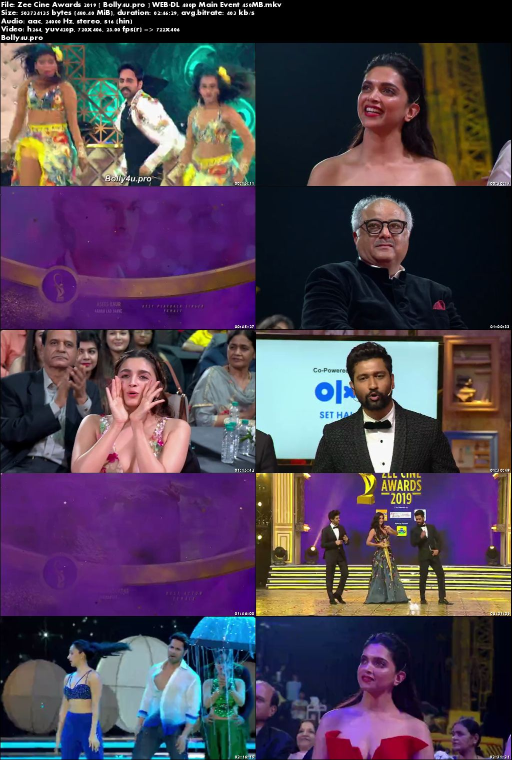 Zee Cine Awards 2019 WEB-DL 480p Main Event 450MB Download