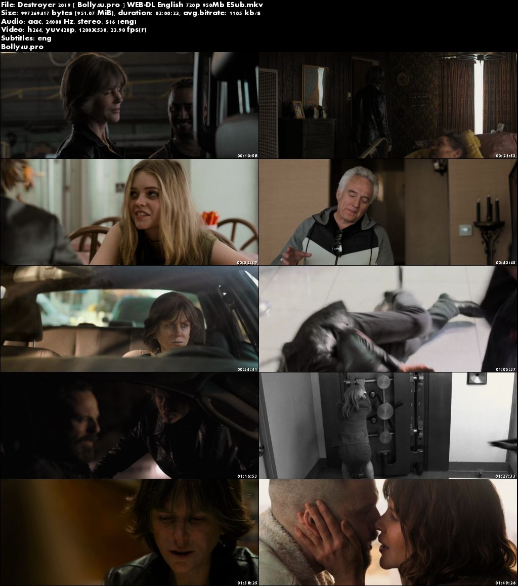 Destroyer 2019 WEB-DL 950Mb English 720p ESub Download
