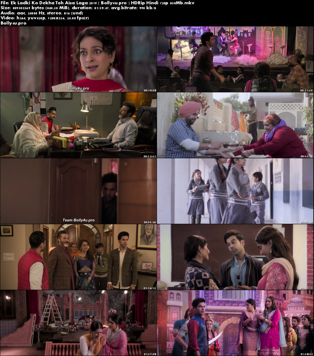 Ek Ladki Ko Dekha Toh Aisa Laga 2019 HDRip 850MB Hindi 720p Download