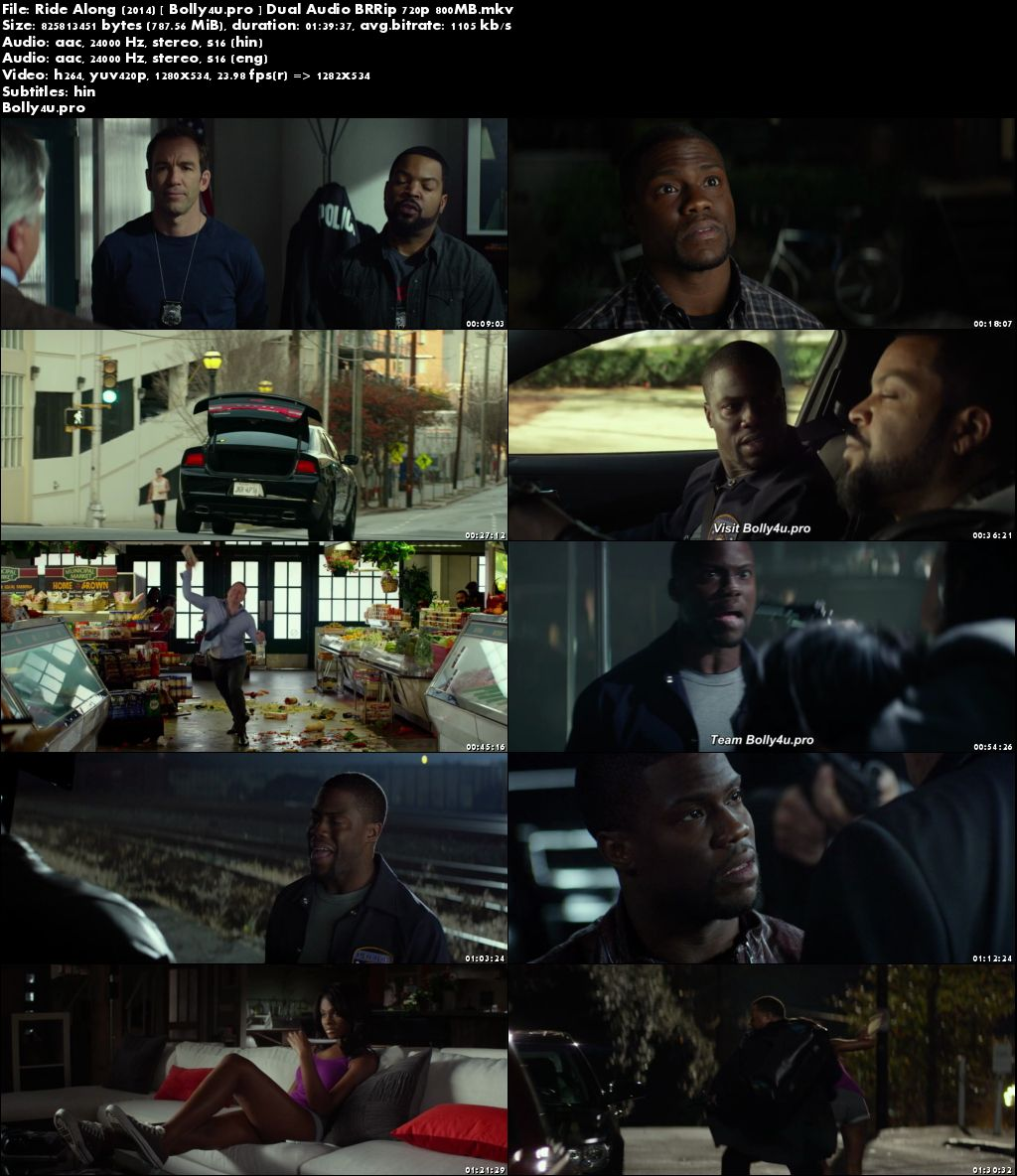 Ride Along 2014 BRRip 350MB Hindi Dual Audio ORG 480p Download