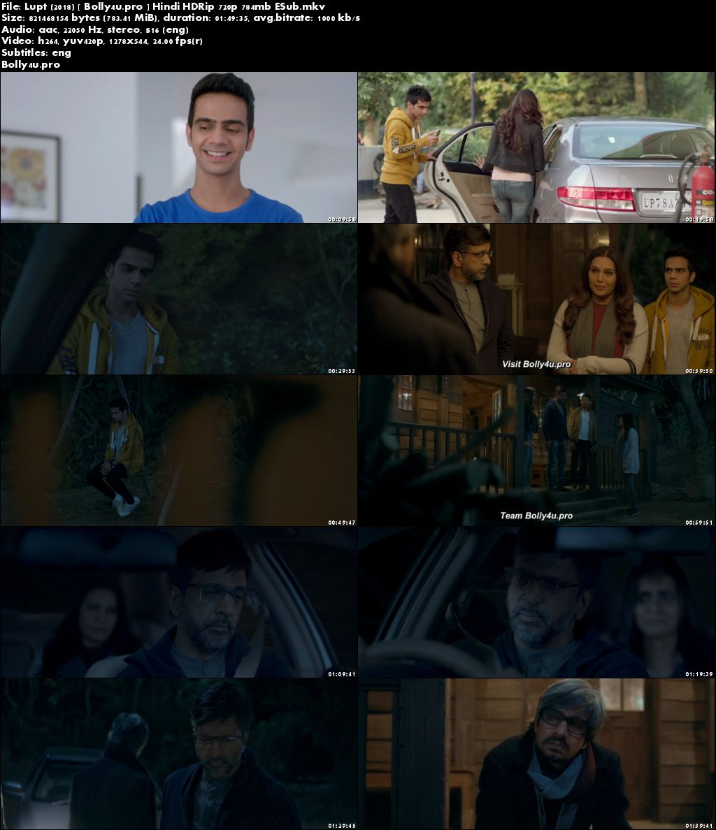 Lupt 2018 HDRip 750Mb Full Hindi Movie Download 720p ESub