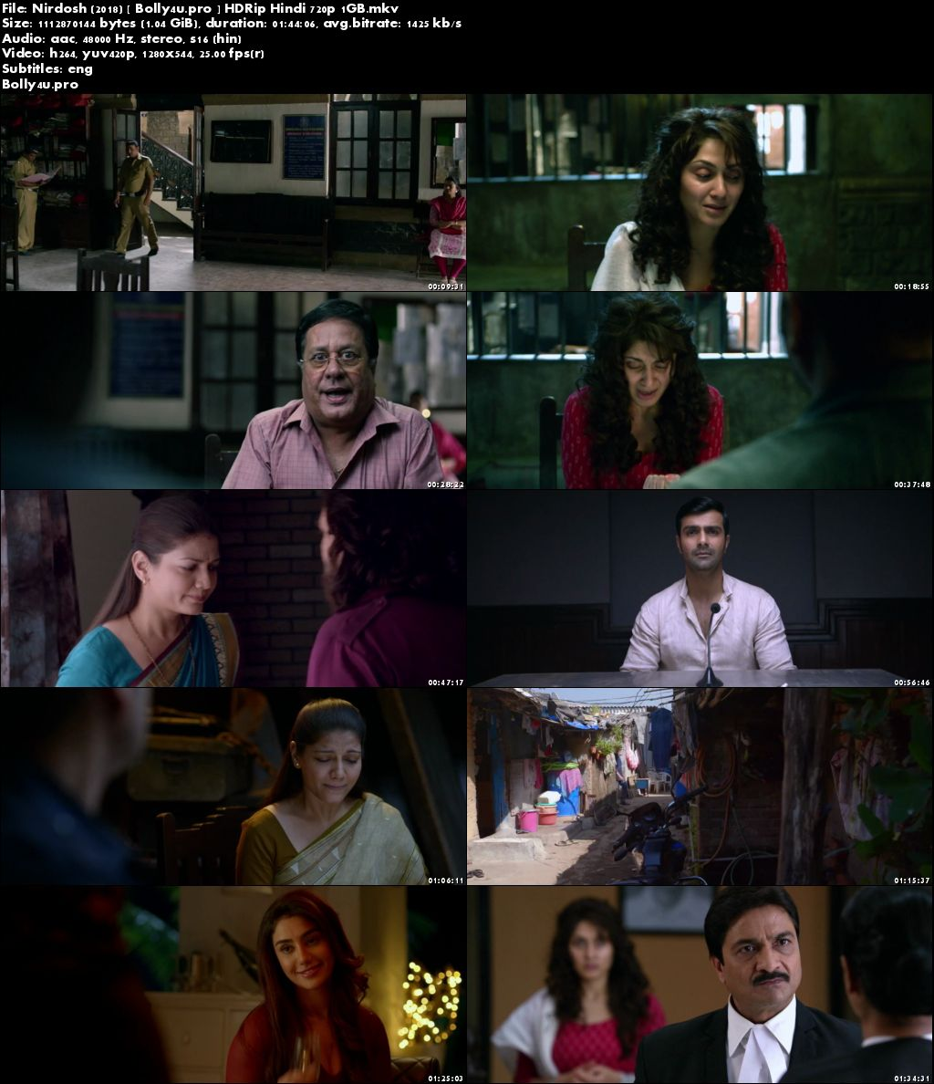 Nirdosh 2018 HDRip 300MB Full Hindi Movie Download 480p ESub