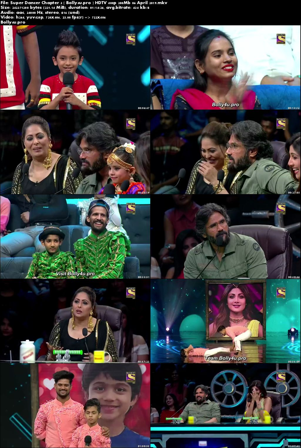 Super Dancer Chapter 3 HDTV 480p 200Mb 06 April 2019 Download