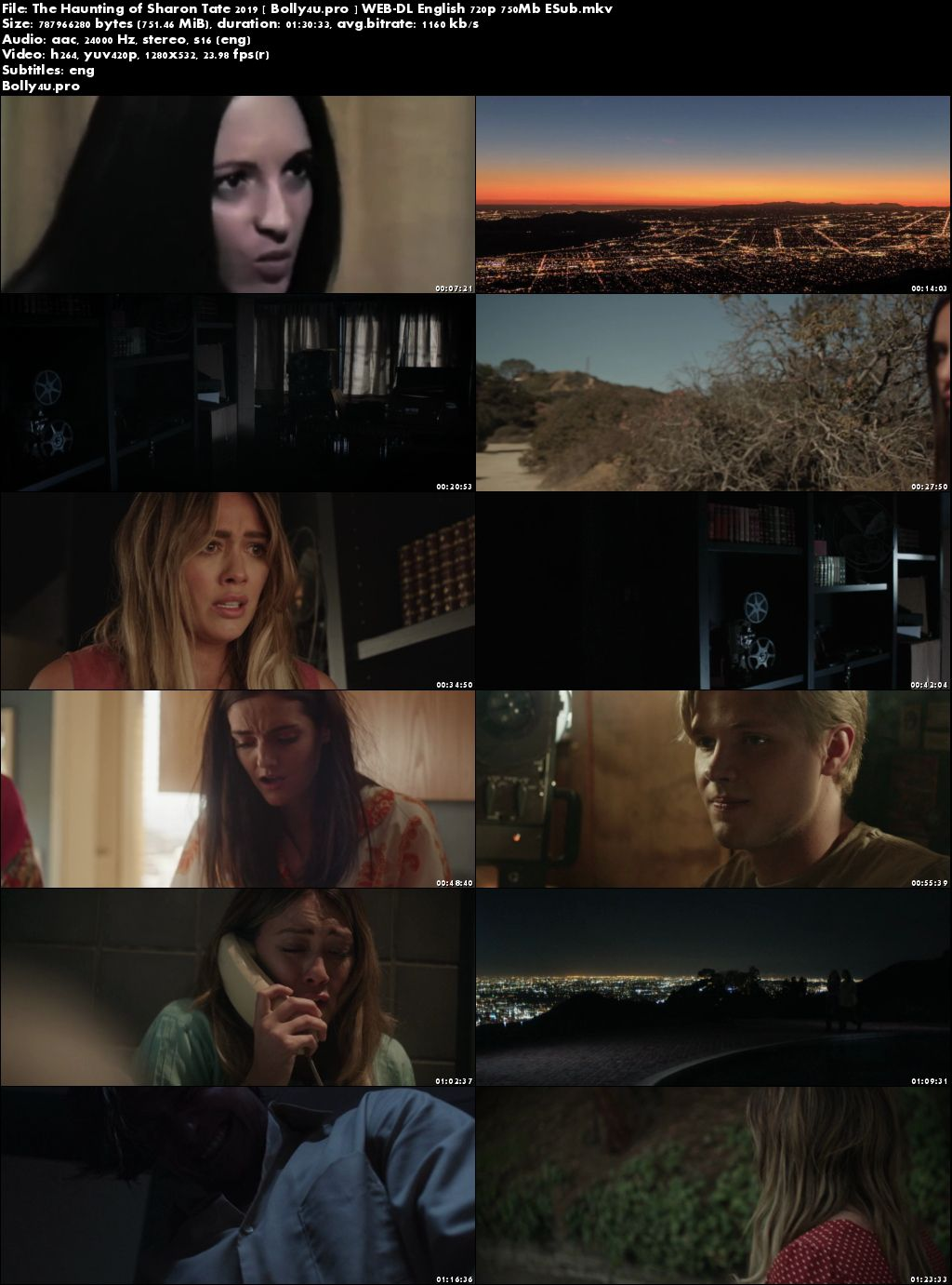 The Haunting of Sharon Tate 2019 WEB-DL 750MB English ESub Download