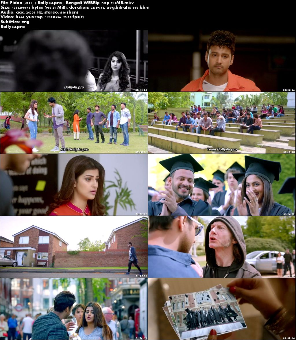 Fidaa 2018 WEBRip 950MB Bengali 720p ESub Download