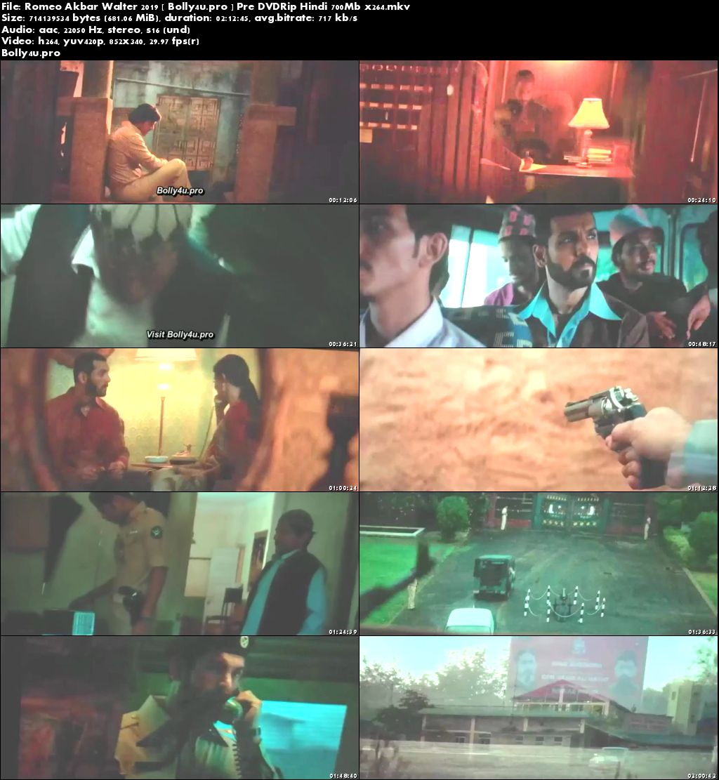 Romeo Akbar Walter 2019 Pre DVDRip 700MB Hindi x264 Download
