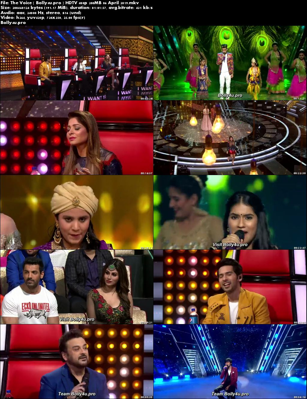 The Voice HDTV 480p 200MB 06 April 2019 Download