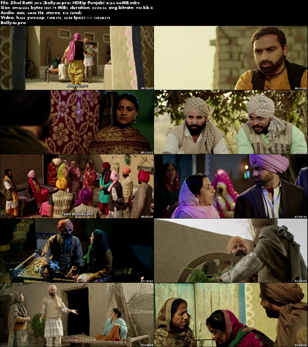 Dhol Ratti 2018 HDRip 850MB Punjabi x264 Download