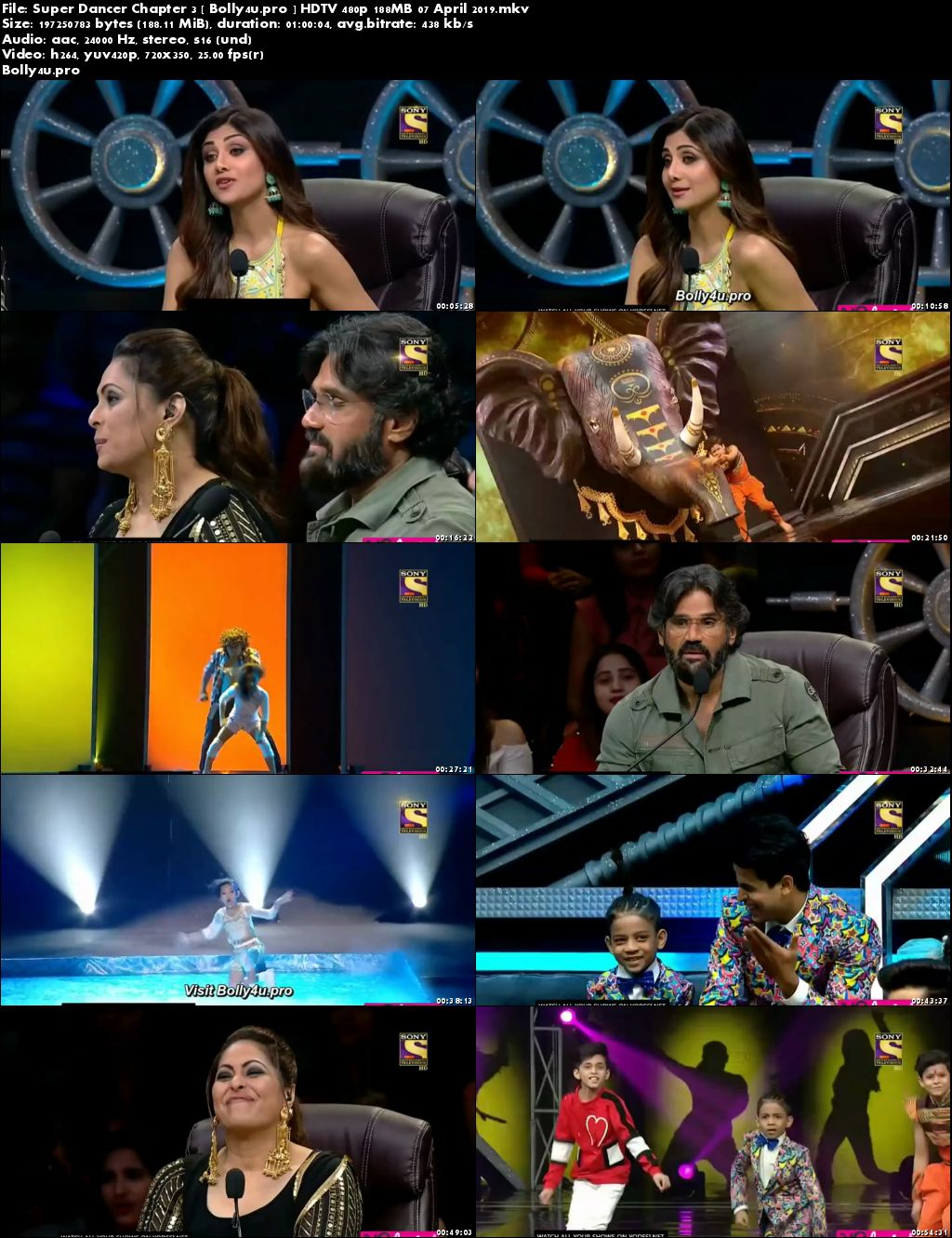 Super Dancer Chapter 3 HDTV 480p 180MB 07 April 2019 Download