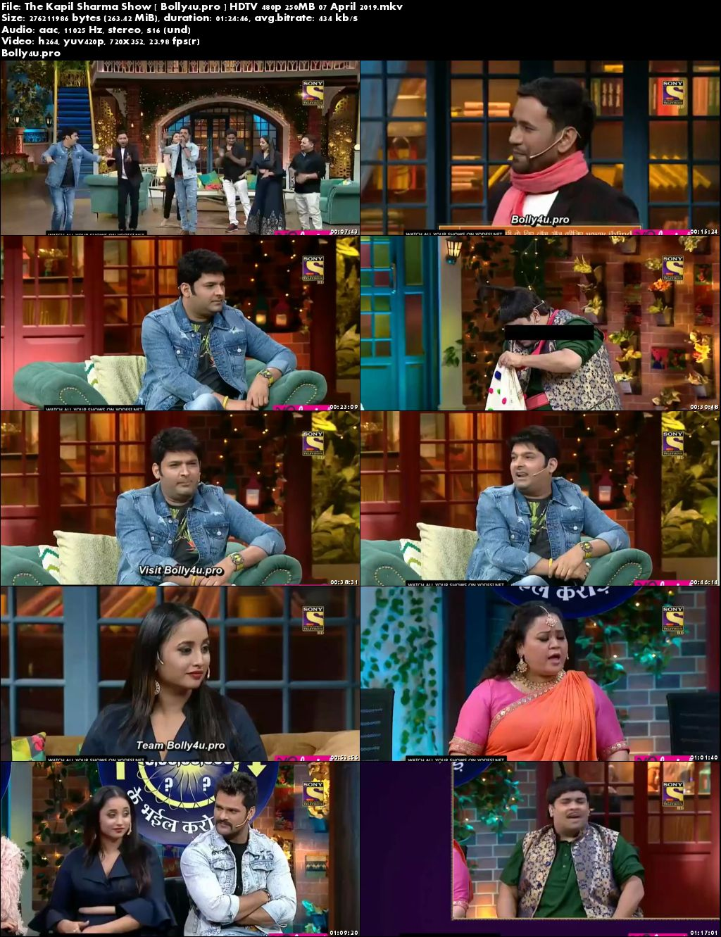 The Kapil Sharma Show HDTV 480p 250MB 07 April 2019 Download