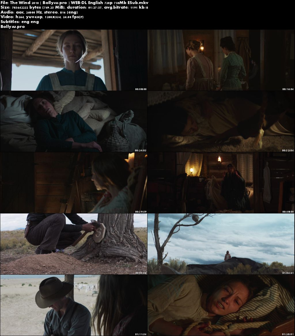 The Wind 2018 WEB-DL 250Mb English 480p ESub Download