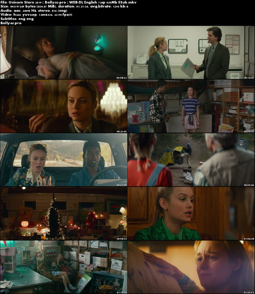 Unicorn Store 2019 WEB-DL 850MB English 720p ESub Download