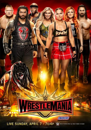 WWE Wrestlemania 35 2019 PPV WEBRip 480p 950Mb Full Show x264 Watch Online Free Download bolly4u