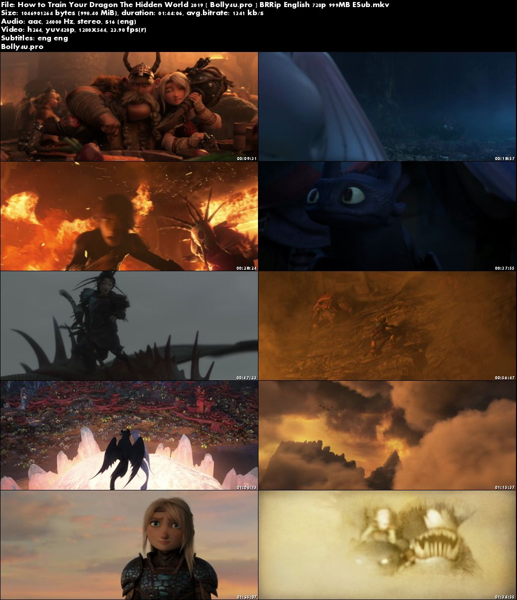 How to Train Your Dragon 2 2019 BRRip 999MB English 720p ESub Download