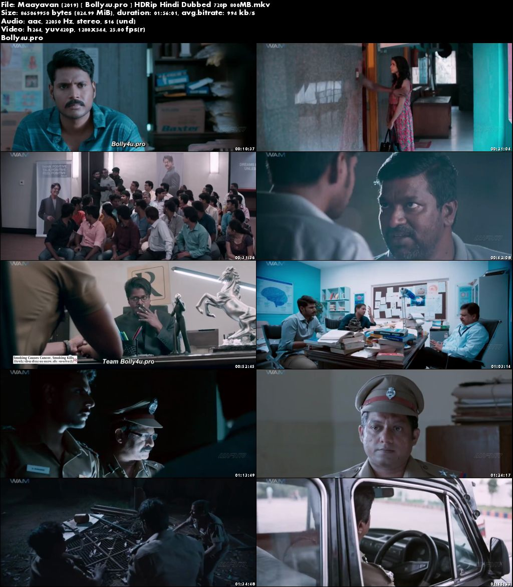 Maayavan 2019 HDRip 800Mb Hindi Dubbed 720p Download